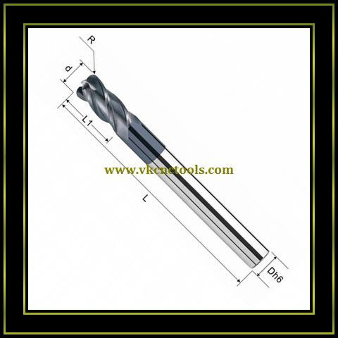 4F Corner Radius End Mills (Long Type)